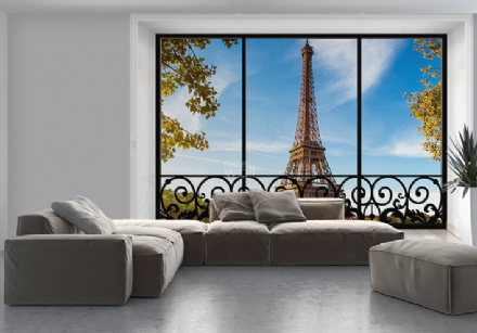 Eiffel Tower giant wall mural wallpaper